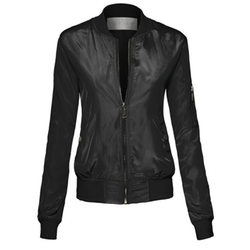 Hot From Hollywood - Fitted Nylon Bomber Jacket