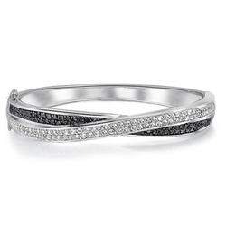Cz Tennis - Twist Bangle Bracelet
