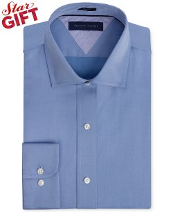Tommy Hilfiger  - Slim-Fit Twill Solid Dress Shirt