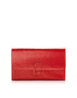 Aspinal of London - Lizard and Suede Classic Travel Wallet