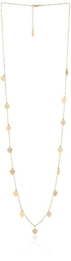 Kensie - Gold-Plated Long Heart Station Necklace