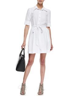 Milly  - Cleo Tie-Waist Shirtdress
