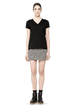 Alexander Wang - Cotton  V-Neck Tee Shirt