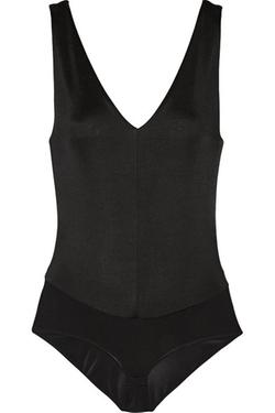 Donna Karan New York  - Ribbed Stretch-Jersey Bodysuit