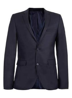 Topman - Navy Ultra Skinny Suit Jacket