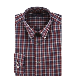 Roundtree & Yorke  - Travel Smart Plaid Button-Down Shirt
