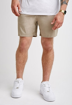 Forever 21 - Elasticized Chino Shorts
