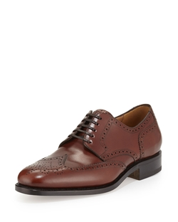 Salvatore Ferragamo - Nilsson Tramezza Calfskin Wing-Tip Brogued Oxford Shoes