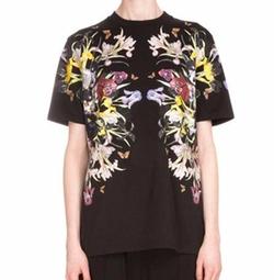 Givenchy - Short-Sleeve Floral-Print Tee Shirt