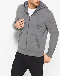 Michael Kors  - Sherpa-lined Zip-up French Terry Hoodie