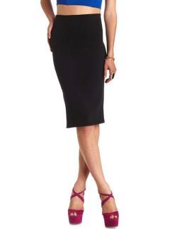 Charlotte Russe - High-waisted bodycin midi skirt