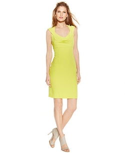 Calvin Klein - V-Neck Crossback Sheath Dress