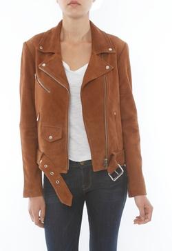 Veda - Jayne Suede Jacket In Camel Suede