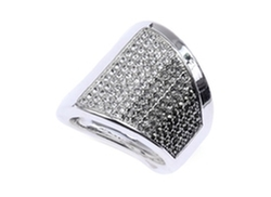 Judith Jack  - Sterling Silver Crystal Ring