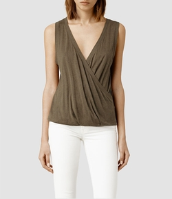 All Saints - Kerin Wrap Tank Top