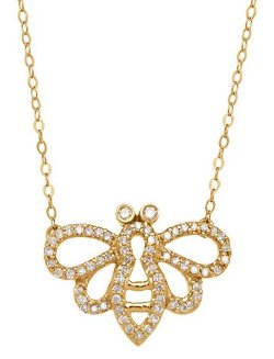 Lord & Taylor  - Yellow Gold Diamond Bee Necklace