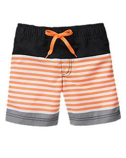 Gymboree - Neon Striped Swim Shorts
