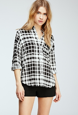 Forever 21 - Plaid Button-Down Shirt