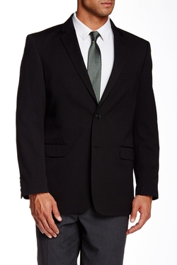 US Polo Assn. - Black Pinstripe Two Button Notch Lapel Suit Separate Sport Coat