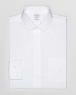 Brooks Brothers - Solid Pinpoint Non-Iron Dress Shirt