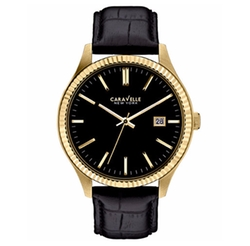 Caravelle New York - Croc-Embossed Leather Strap Watch