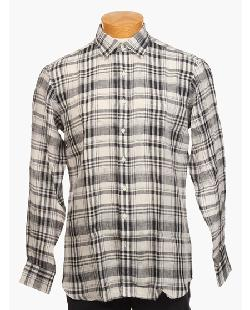HAMILTON  - Linen Plaid Shirt