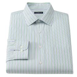 Croft & Barrow - Classic-Fit Striped Easy-Care Spread-Collar Dress Shirt