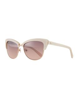 Kate Spade New York - Dual-Rimmed Cat-Eye Sunglasses
