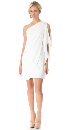 Badgley Mischka Collection  - One Shoulder Mini Dress