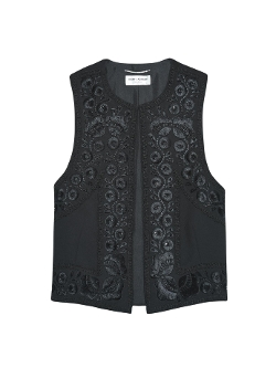 Saint Laurent - Embroidered Waistcoat