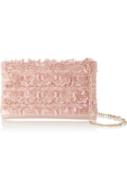 Oscar de la Renta - Embellished Satin Shoulder Bag