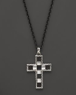 John Hardy  - Silver Cross Pendant Necklace