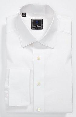 David Donahue  - Tonal Solid Regular Fit Tuxedo Shirt