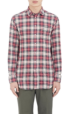 Officine Generale  - Washed Flannel Shirt
