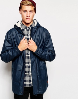 Bellfield  - Rain Jacket with Fleece Lined Hood
