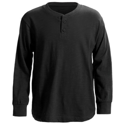 J.A.C.H.S.  - Ribbed Cotton Henley Shirt