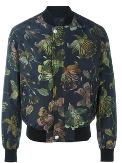 Versus   - Floral Print Bomber Jacket