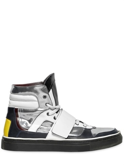 Antonio Marras - Metallic Leather High Top Sneakers
