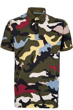 Valentino - Camo Print Polo Shirt