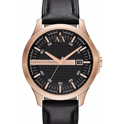 AX Armani Exchange -  Leather Strap Watch