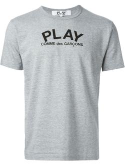 Comme Des Garçons Play   - Printed Logo T-Shirt