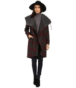 BB Dakota  - Arrington Plaid Coat and Wubby Lined Hood