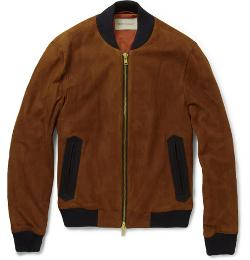 Oliver Spencer   - Suede Bomber Jacket