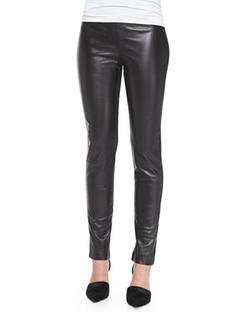 Neiman Marcus  - Leather & Ponte Leggings