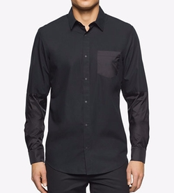 Calvin Klein - Long Sleeve Button-Front Shirt