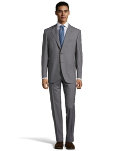 Canali - Sharkskin Wool 2-Button Suit