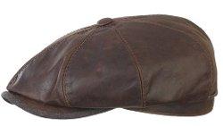 Stetson  - Hatteras Leather Goatskin Newsboy Cap