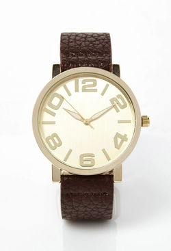 Forever21 - Faux Leather-Strap Watch