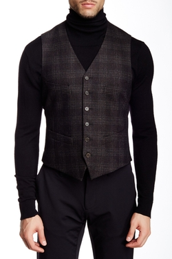 John Varvatos Collection - Tailored Plaid Vest