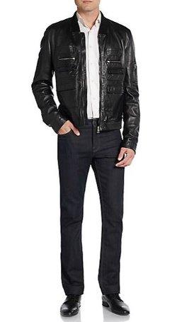 Dolce & Gabbana  - Multipocket Leather Jacket